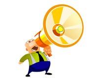hög högtalare Vektor Illustrationer