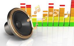 hög högtalare för hög högtalare 3d Royaltyfri Foto