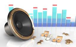 hög högtalare för spektrum 3d Arkivbild