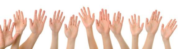 hög hand för fem gest Arkivbilder