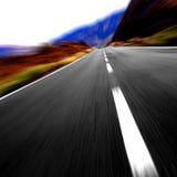 hög hastighet för väg 0n Arkivfoto
