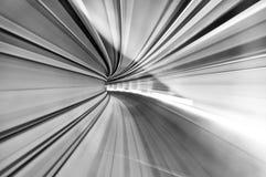 Hög hastighet i tunnelen Arkivfoton