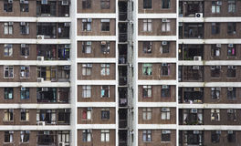 hög Hong Kong för lägenheter stigning fotografering för bildbyråer