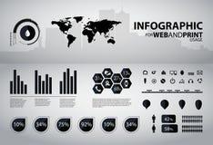 hög infographic kvalitet för affärselement Royaltyfria Bilder