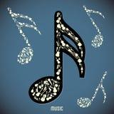 hög instrumentmusik för contrast royaltyfri illustrationer