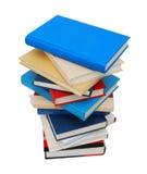 Hög isolerad bokbunt Fotografering för Bildbyråer