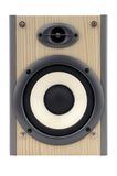 hög isolerad högtalare för fi royaltyfria foton