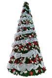 hög isolerad tree för jul Arkivfoto