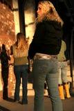hög jeans för mode Arkivfoto