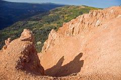 hög kanjon Fotografering för Bildbyråer