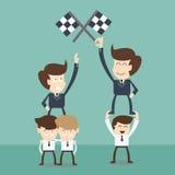 Hög kapacitet för affärspersonaler och hög potentiell person - Arkivbild