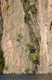 hög klippa Arkivfoto