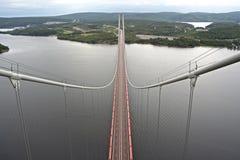 Hög kustbro Fotografering för Bildbyråer