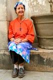 hög kvinna Royaltyfri Fotografi