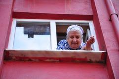 hög kvinna Royaltyfria Foton