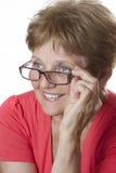 Hög kvinna Fotografering för Bildbyråer