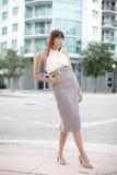 hög kvinna för mode royaltyfria bilder