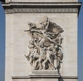 Hög lättnad av Arc de Triomphe Arkivbild