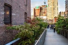 Hög linje gångbana Arkivbilder