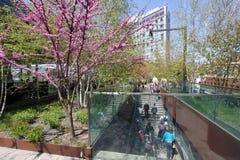 Hög linje ingång NYC Arkivfoto