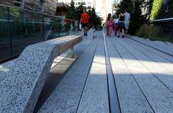 Hög linje.  New York City. Den högstämda gångaren parkerar Royaltyfri Bild