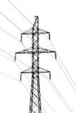hög linje strömspänning Arkivbild
