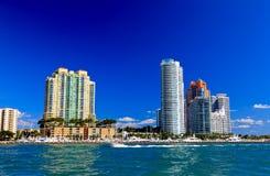 hög miami för strandbyggnader stigning Arkivbilder