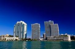 hög miami för strandbyggnader stigning Arkivfoton