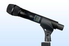 hög mikrofontechradio Arkivfoto