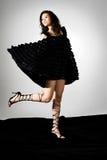 hög modell för asiatiskt mode Arkivfoto