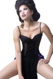 hög modell för mode royaltyfria foton