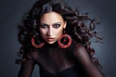 hög modell för mode royaltyfri foto