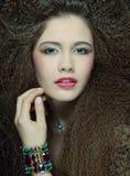 hög modell för mode royaltyfri fotografi