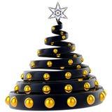 hög modern res stylized tree för jul Arkivbilder
