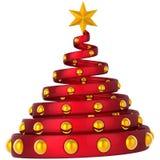 hög modern res-tree för abstrakt jul Arkivfoto