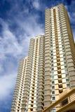 hög modern stigning för lägenheter arkivfoton