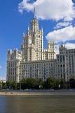 hög moscow för buildign stigning royaltyfria bilder