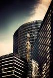 hög moscow för byggnadsstadsafton stigning royaltyfri foto