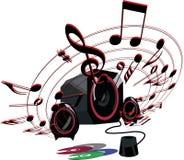 Hög musik Arkivfoto