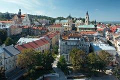 Hög poängsikt av Przemysl Arkivbild