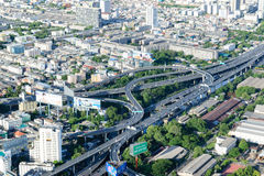 Hög poängsikt på Bangkok Thailand Arkivfoton