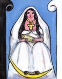 hög priestess för bbw Royaltyfri Bild