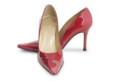 hög röd sko för häl Arkivbilder
