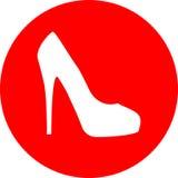 hög röd sko för häl Royaltyfria Bilder