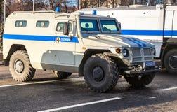 Hög-rörlighet medel GAZ-23034 Tigr är en ryss 4x4, multipur Arkivfoton