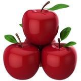 hög red res för äpplen Royaltyfria Bilder