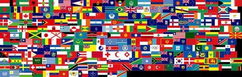 hög res-set för färdig flagga Arkivfoton