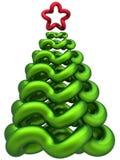 hög res stylized tree för jul Arkivbild