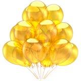 hög res-yellow för ballonger Royaltyfria Bilder