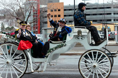Hög royalty och vagn av karnevalet Arkivfoto